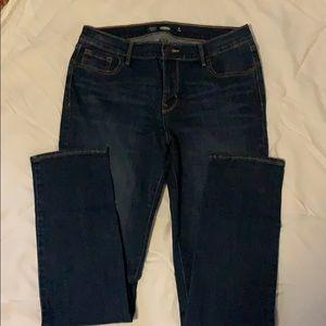Old Navy Straight Dark Denim Jeans-8 L